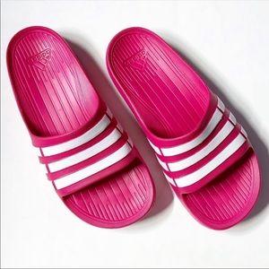 New in Box! Adidas Pink Logo Slides